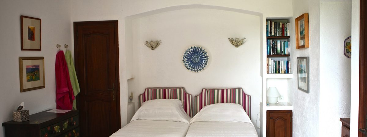 Upstairs twin bedroom no.4 at Villa La Cotriade