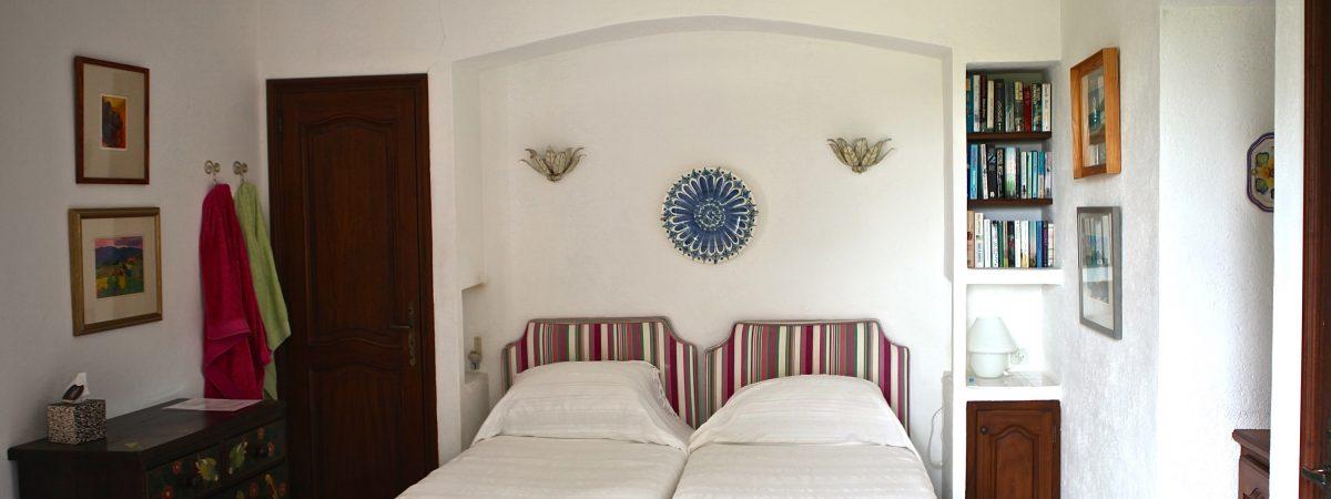 Upstairs twin bedroom no.4 at Villa La Cotriade