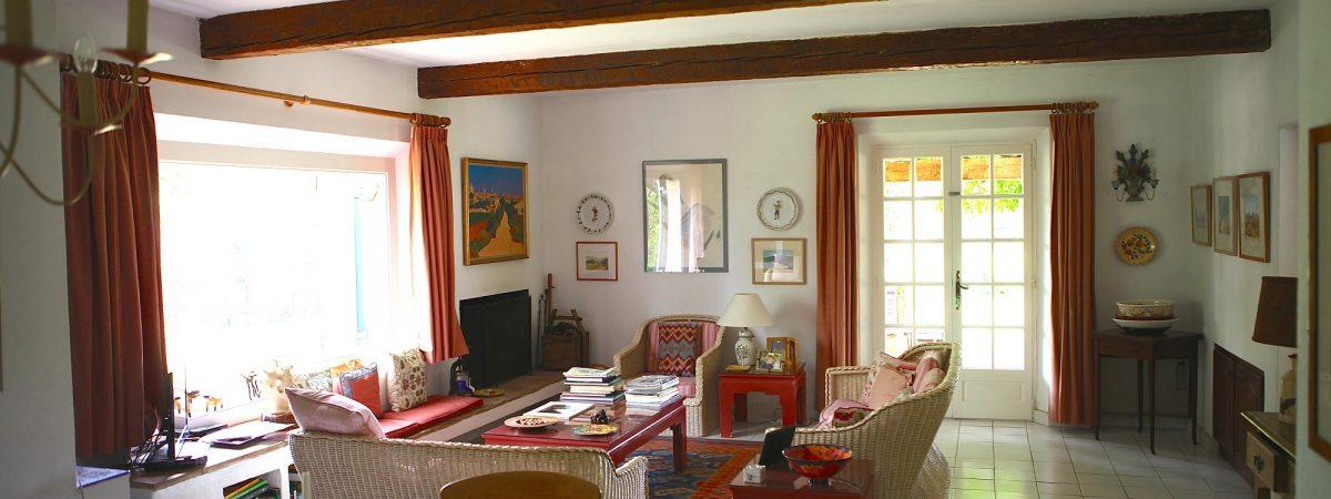 View of the Sitting Room at Villa La Cotriade